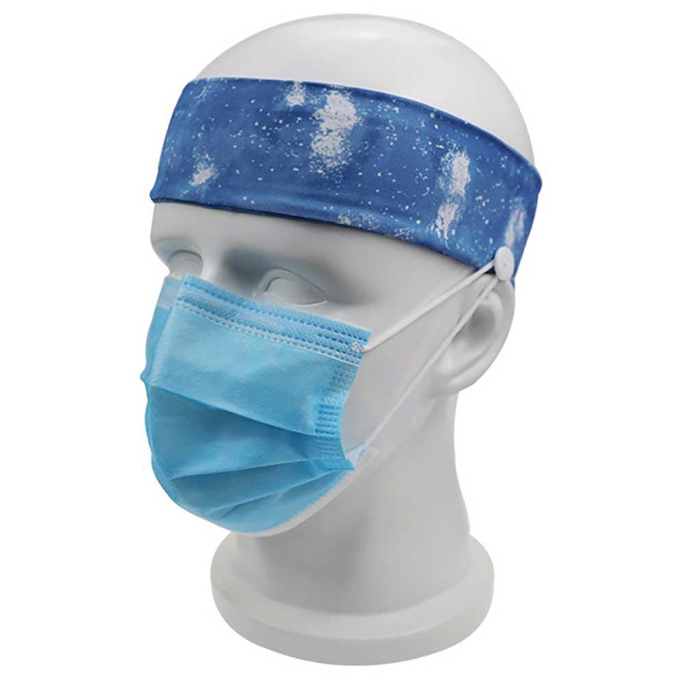 Antiskid Headband Face Masks Earache Proof Elastic Headband with button Yoga Hairbands B99-02 Starry Blue