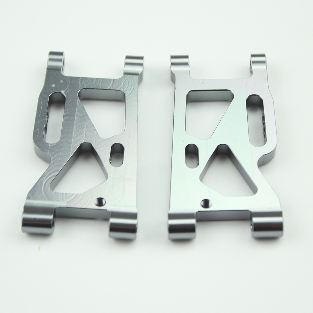 2Pcs Metal Front Swing Arm for WLtoys 144001-1250 1/14 4WD RC Car Upgrade Spare Parts titanium color