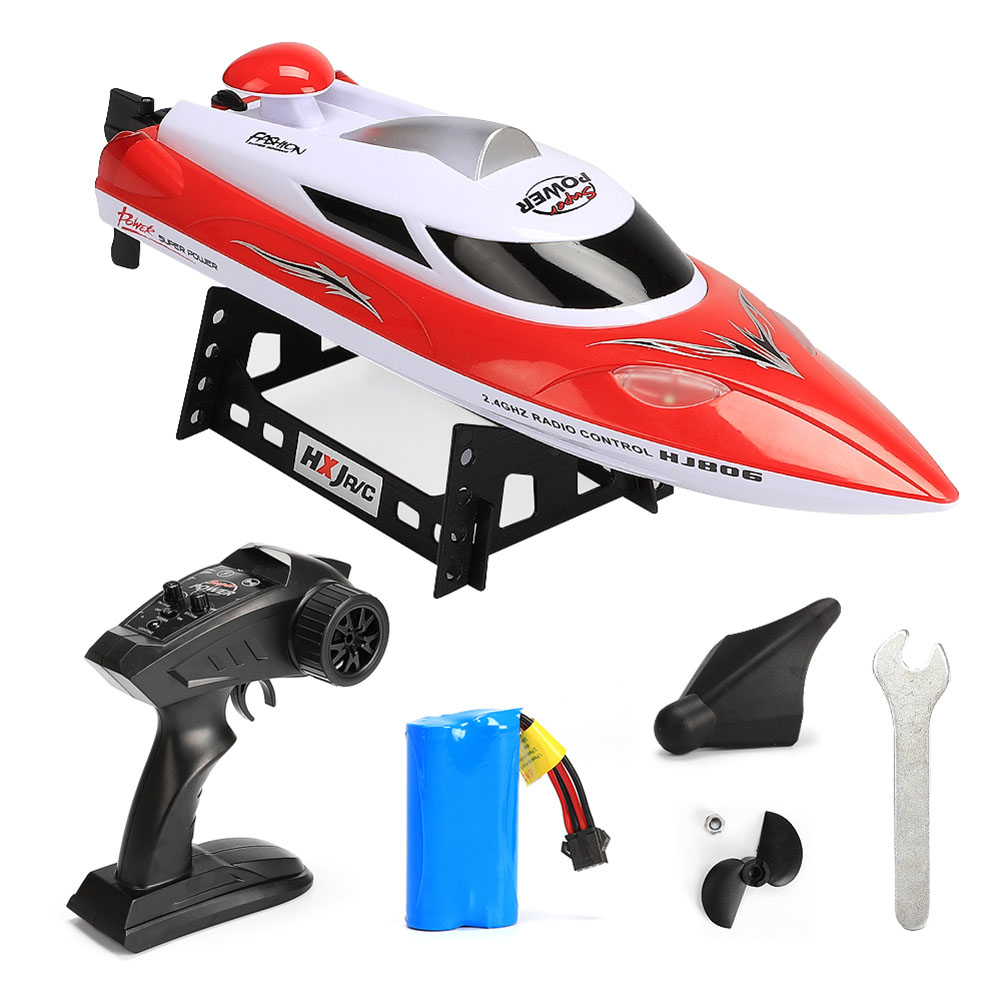 2.4G High Speed Reaches 35km/h Boat Fast Ship with Remote Control and Cooling Water System red
