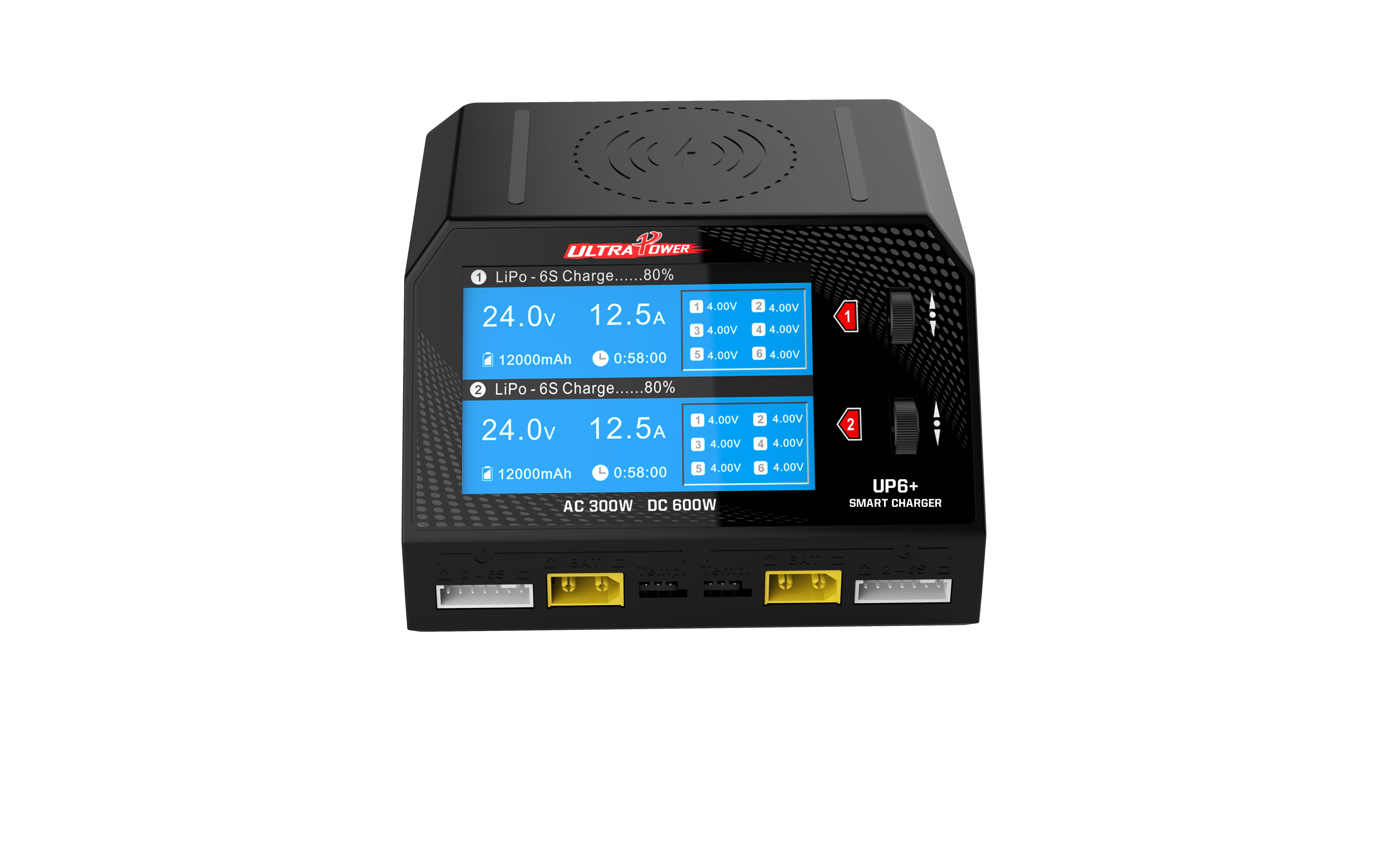 ULTRA POWER UP6+ AC 2x150W DC 2x300W 2x16A Dual Channel Battery Balance Charger Discharger EU plug