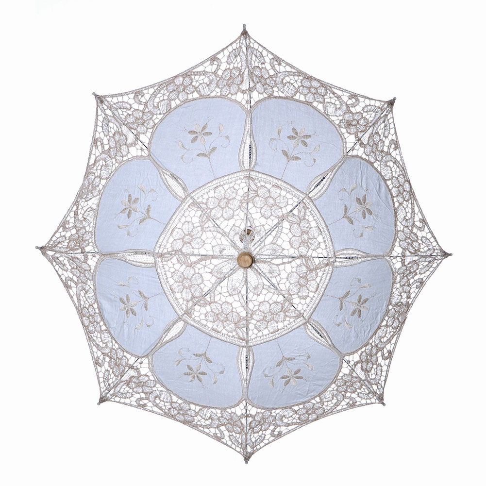 Vintage Style Bridal Lace Sun Umbrella