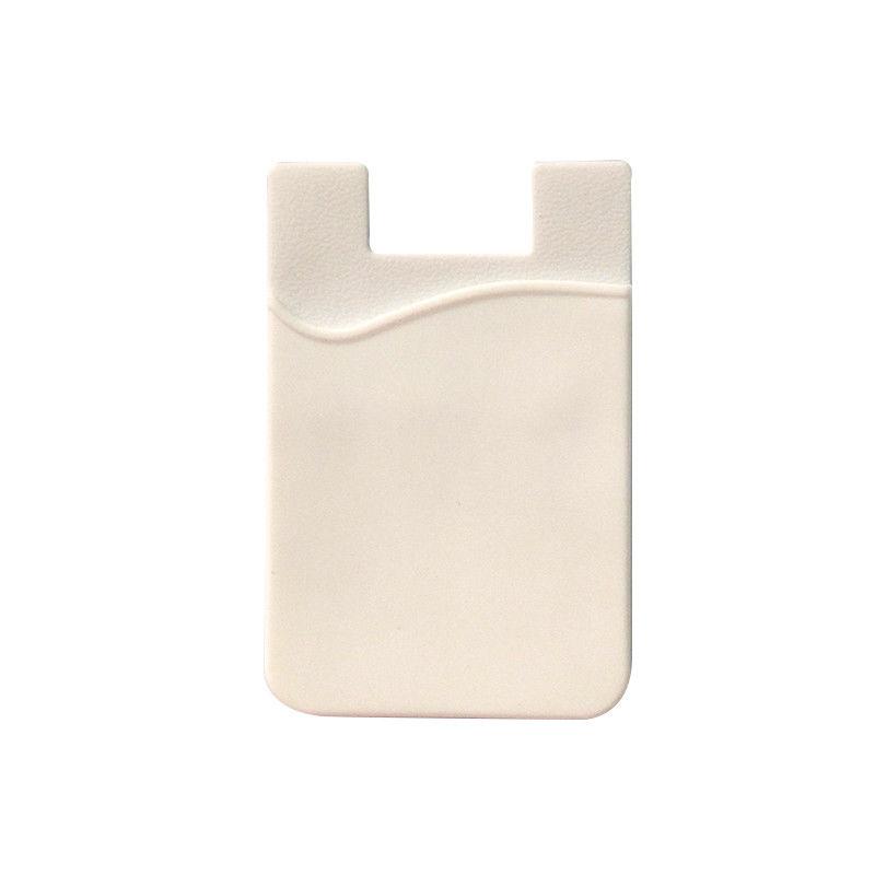 Fashion Simple Adhesive Silicone Card Pocket
