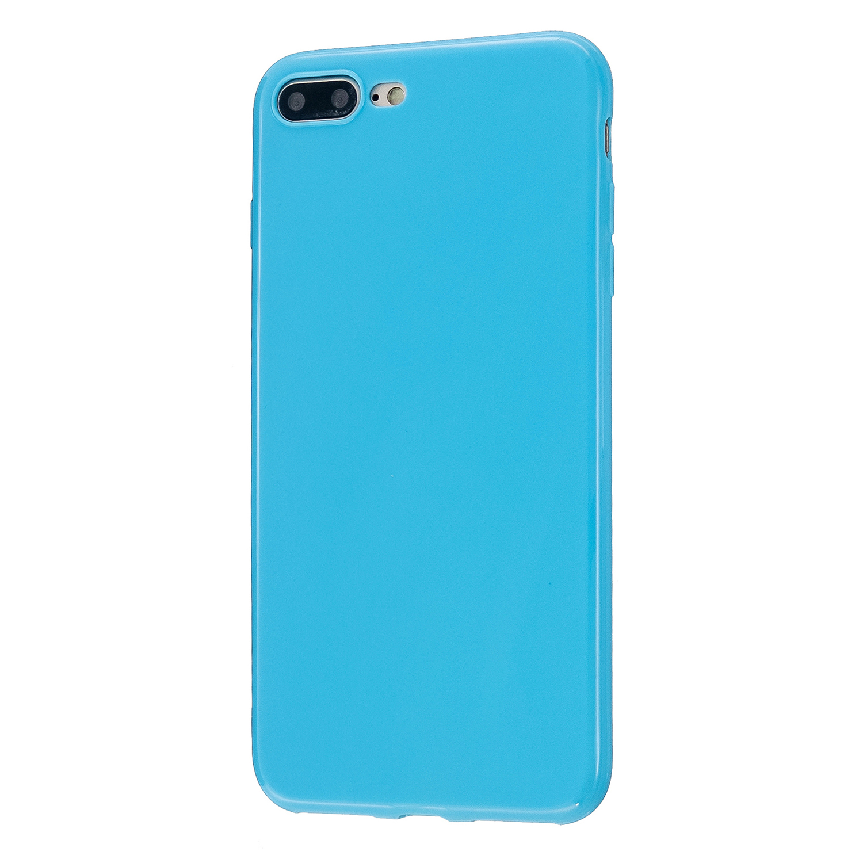 For iPhone 5/5S/SE/6/6S/6 Plus/6S Plus/7/8/7 Plus/8 Plus Cellphone Cover Soft TPU Bumper Protector Phone Shell Ocean blue