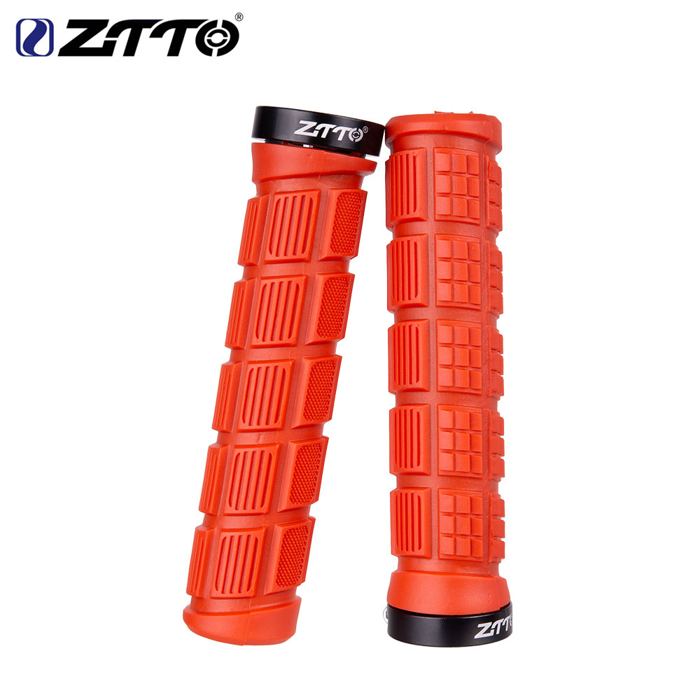 ZTTO Bicycle Pattern Non-slip Color Silicone Handle Sets Mountain Road Bike Comfortable Handlebar Cover red_free size