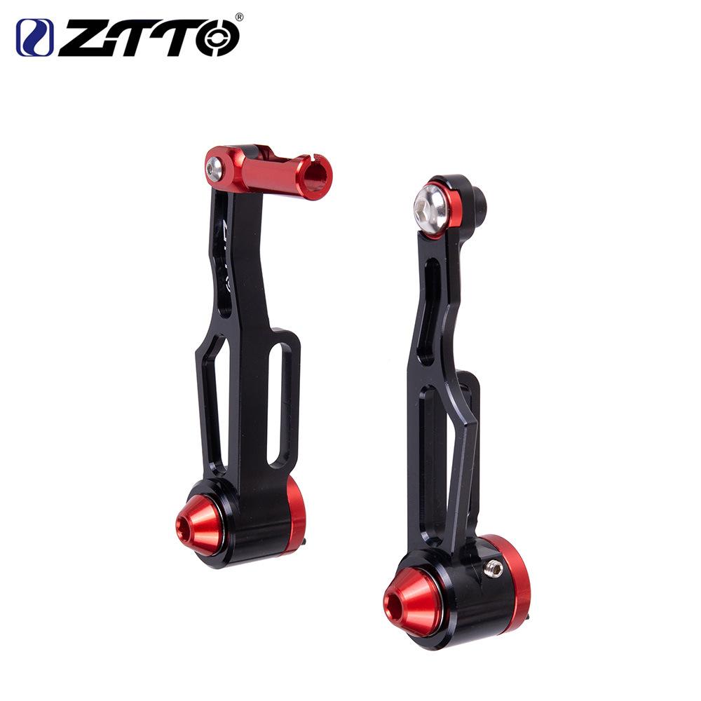 ZTTO Bicycle Folding Wheel Road Handbrake Handle V Brake Handle Ultra-light Hollow CNC Bicycle Accessories CNC short arm V brake black