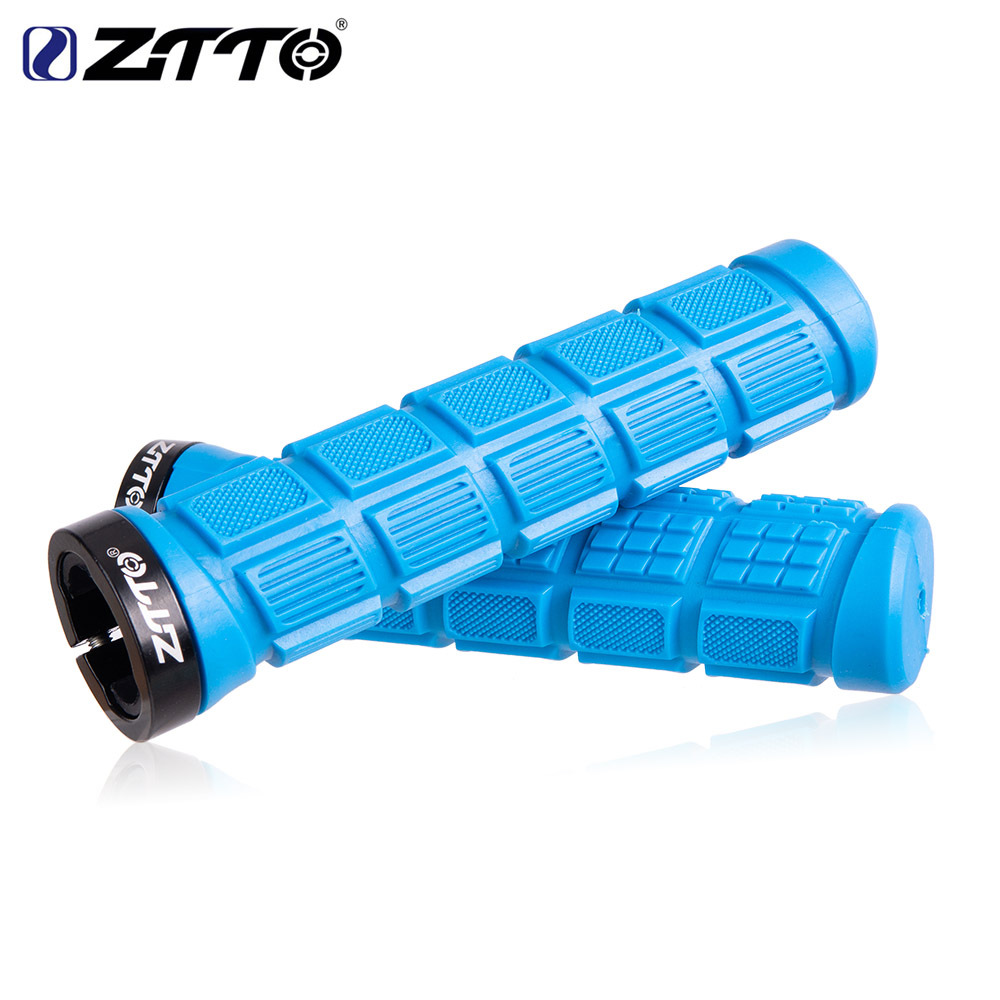 ZTTO Bicycle Pattern Non-slip Color Silicone Handle Sets Mountain Road Bike Comfortable Handlebar Cover blue_free size