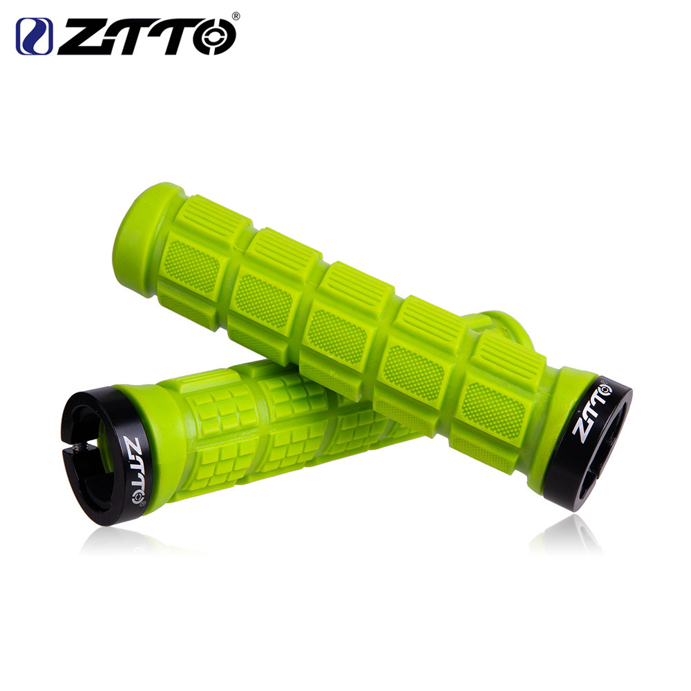 ZTTO Bicycle Pattern Non-slip Color Silicone Handle Sets Mountain Road Bike Comfortable Handlebar Cover green_free size