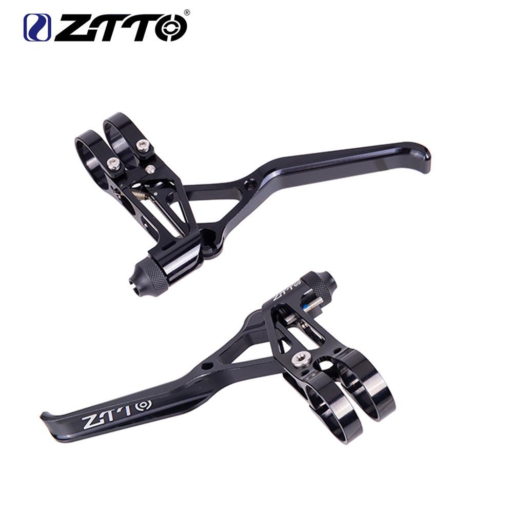 ZTTO Bicycle Folding Wheel Road Handbrake Handle V Brake Handle Ultra-light Hollow CNC Bicycle Accessories CNC ultra light brake handle black