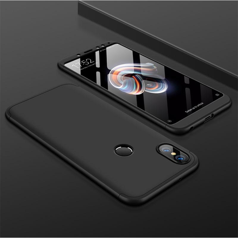 For XIAOMI Redmi Note 5(Globle)/Redmi Note 5 Pro (Inida) 3 in 1 Fashion Ultra Slim Full Protective Back Cover  black