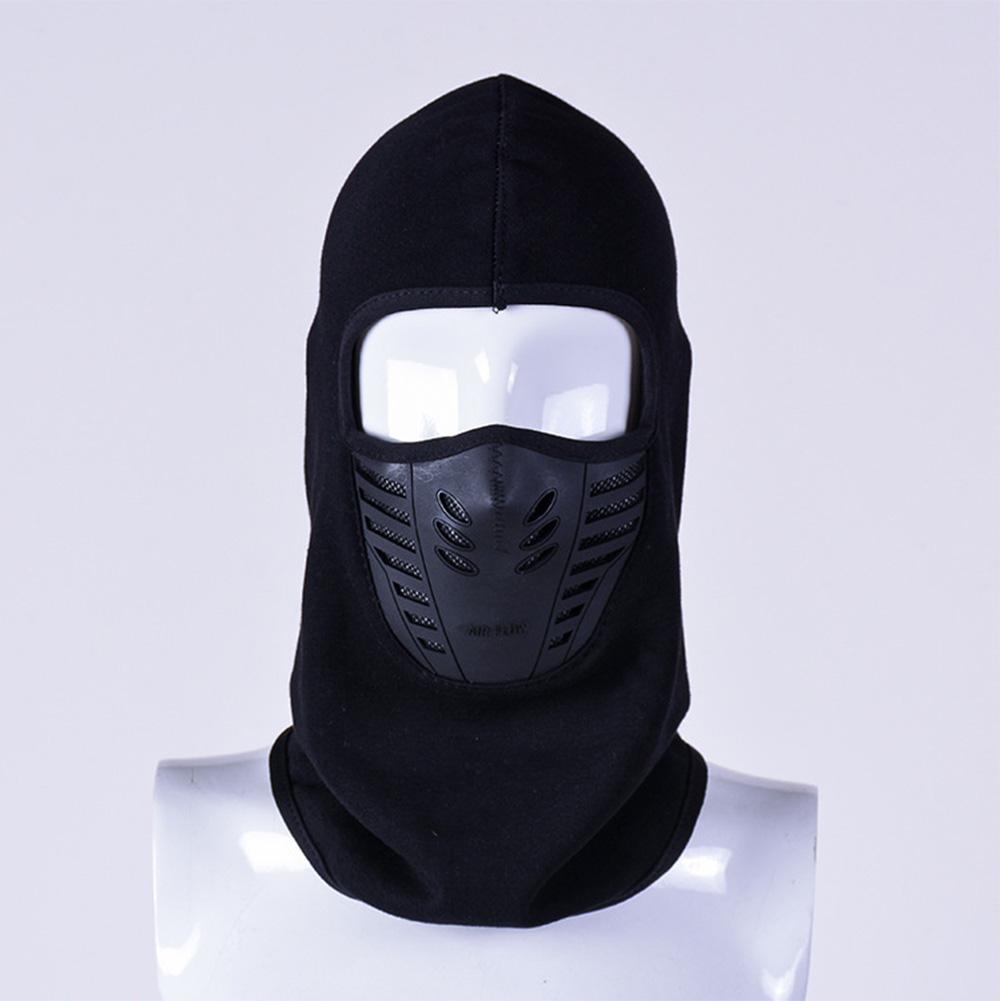 Windproof Fleece Neck Cover Winter Warm Hat Ski Full Face Mask Cycling Scarf CS Cap black_L (58-60cm)