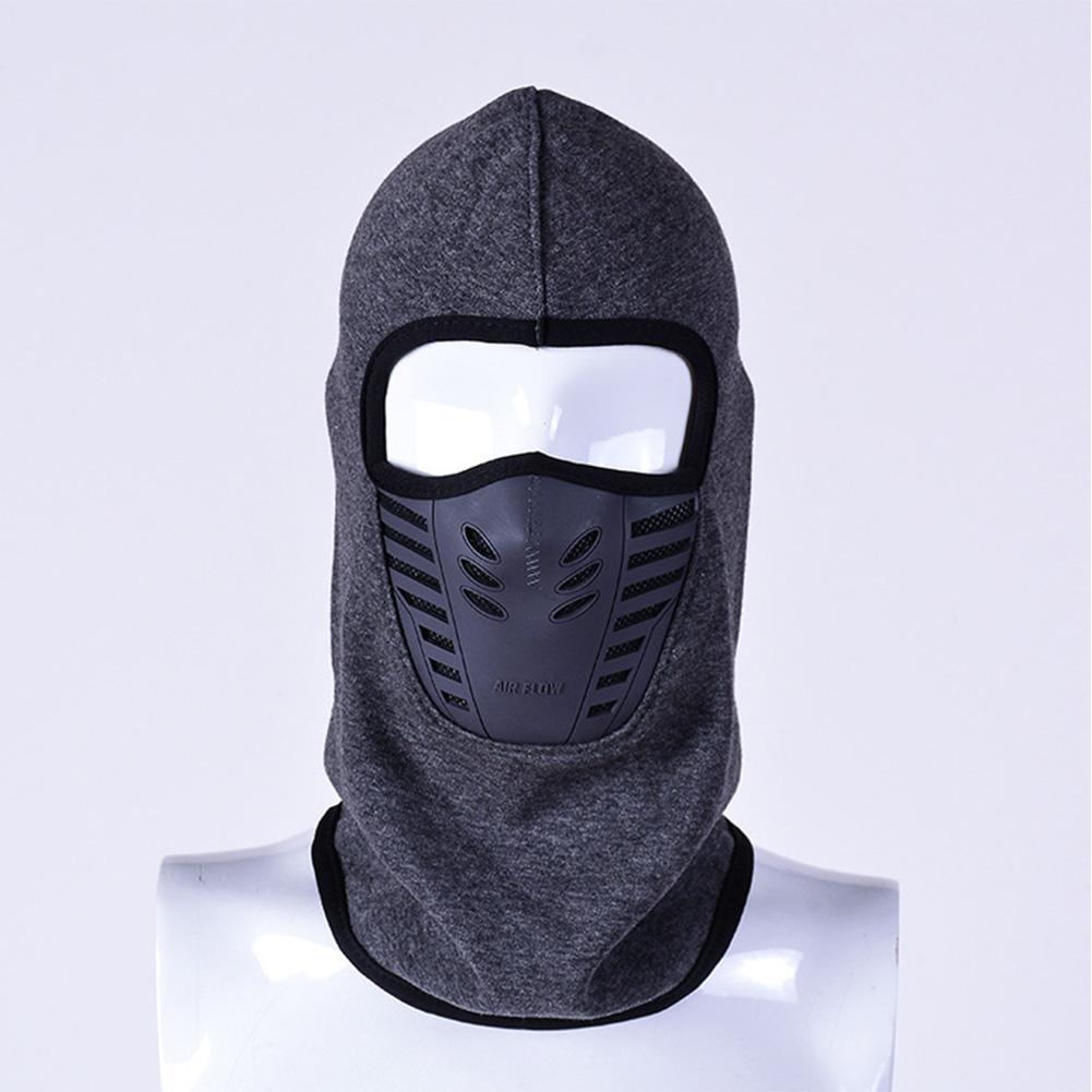 Windproof Fleece Neck Cover Winter Warm Hat Ski Full Face Mask Cycling Scarf CS Cap Dark gray_L (58-60cm)