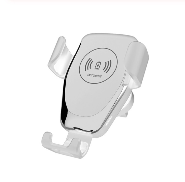 10w Car Wireless Charger Fast Charge Intelligent air outlet Gravity Wireless Charging Phone Car Holder white