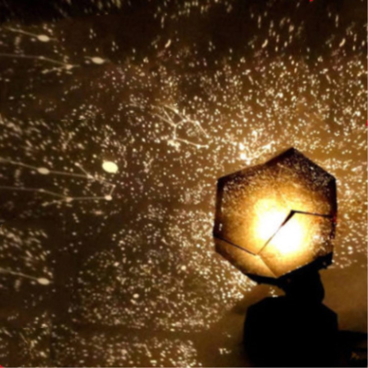 Four Seasons Starry Sky Projection Light Sleeping Lamp DIY Glowing Toy Christmas Light Without Constellation Brochure