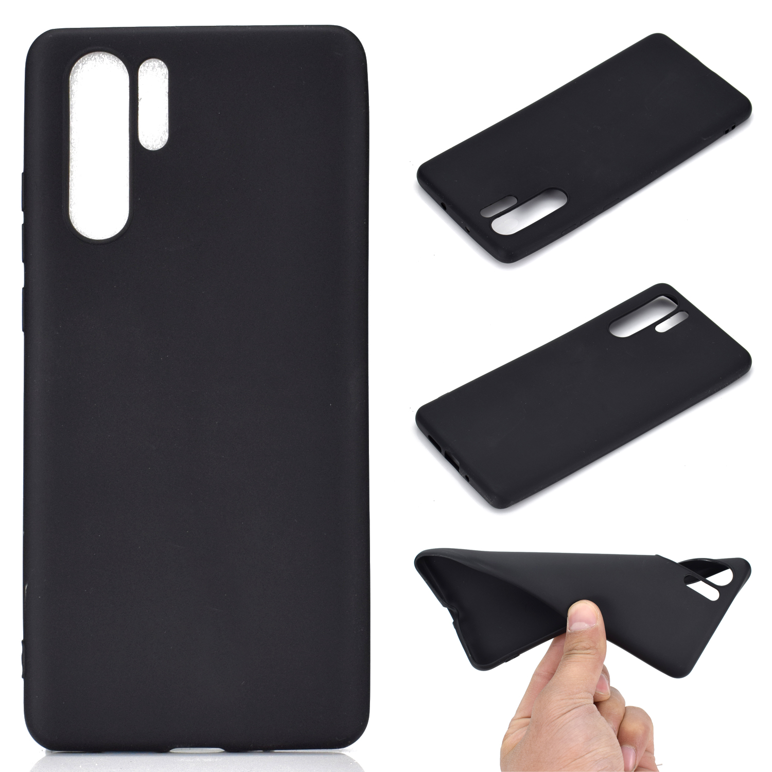 HUAWEI P30 pro Lovely Candy Color Matte TPU Anti-scratch Non-slip Protective Cover Back Case black