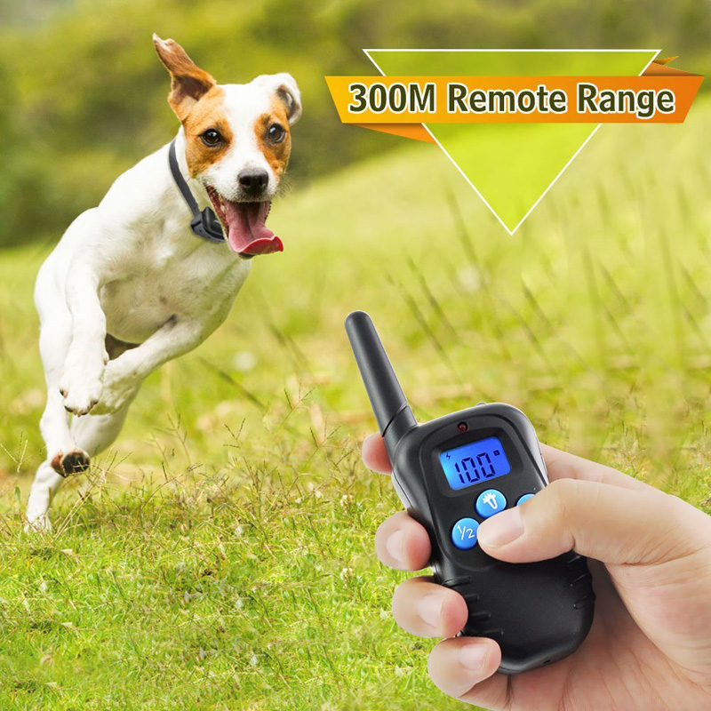Dog Trainer Collar - Adjustable Collar Size, 2 Collar Receivers, 300m Range, Waterproof, 300mAh Battery, 3 Warning Modes