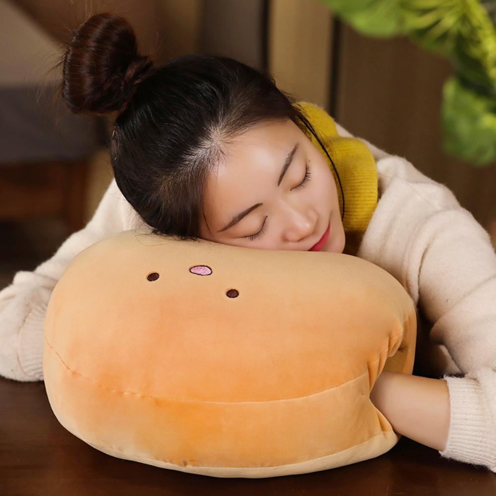 15Inches Cute Cartoon Doll Plush Toy Stuffed Throw Pillow Hand Warm Cushion for Kids Girls Nap Brown hand wamer