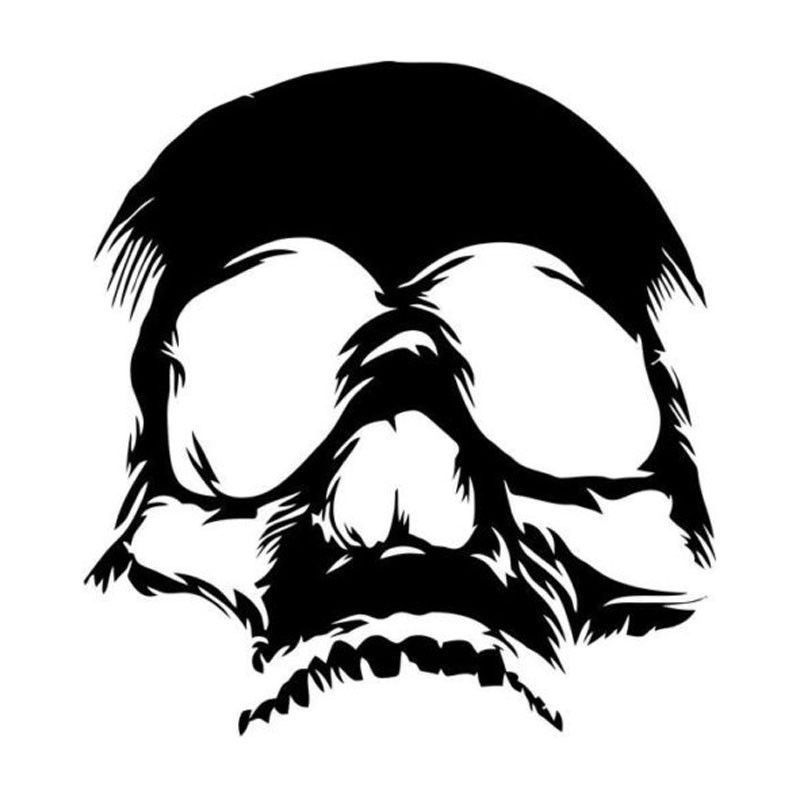 Car Skull Face Sticker Motorcycle Reflective Decoration Decals black