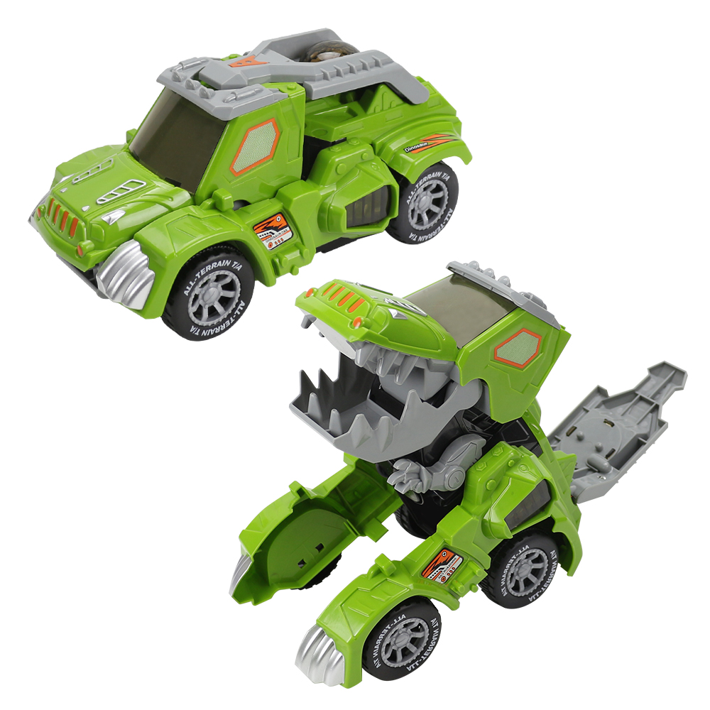 Remote Control Car Deformation Automatic Transform  with Light and Music Toy Car for Children Gift green