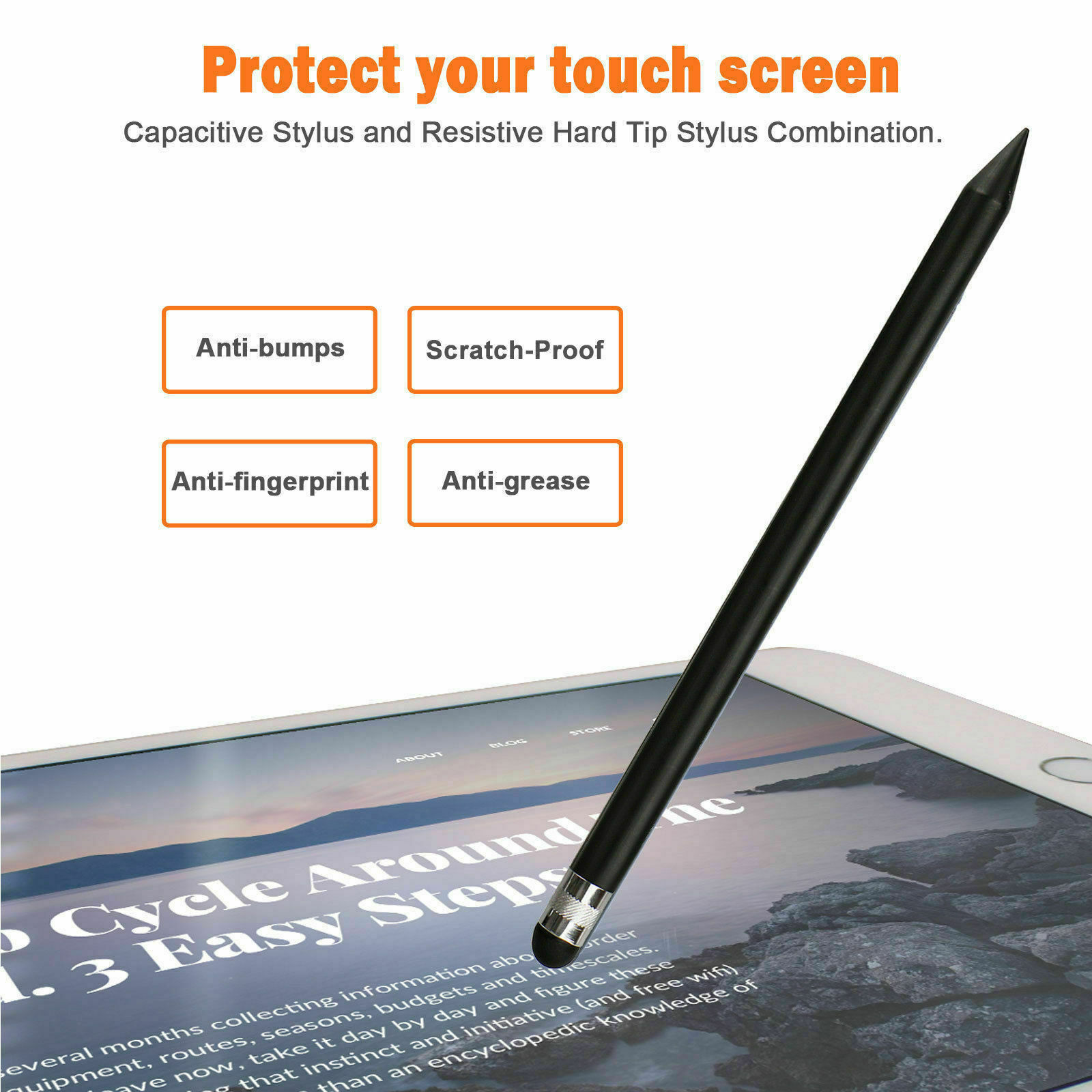 Precision Stylus Touch Screen Pen Pencil for iPhone iPad Samsung Tab  black