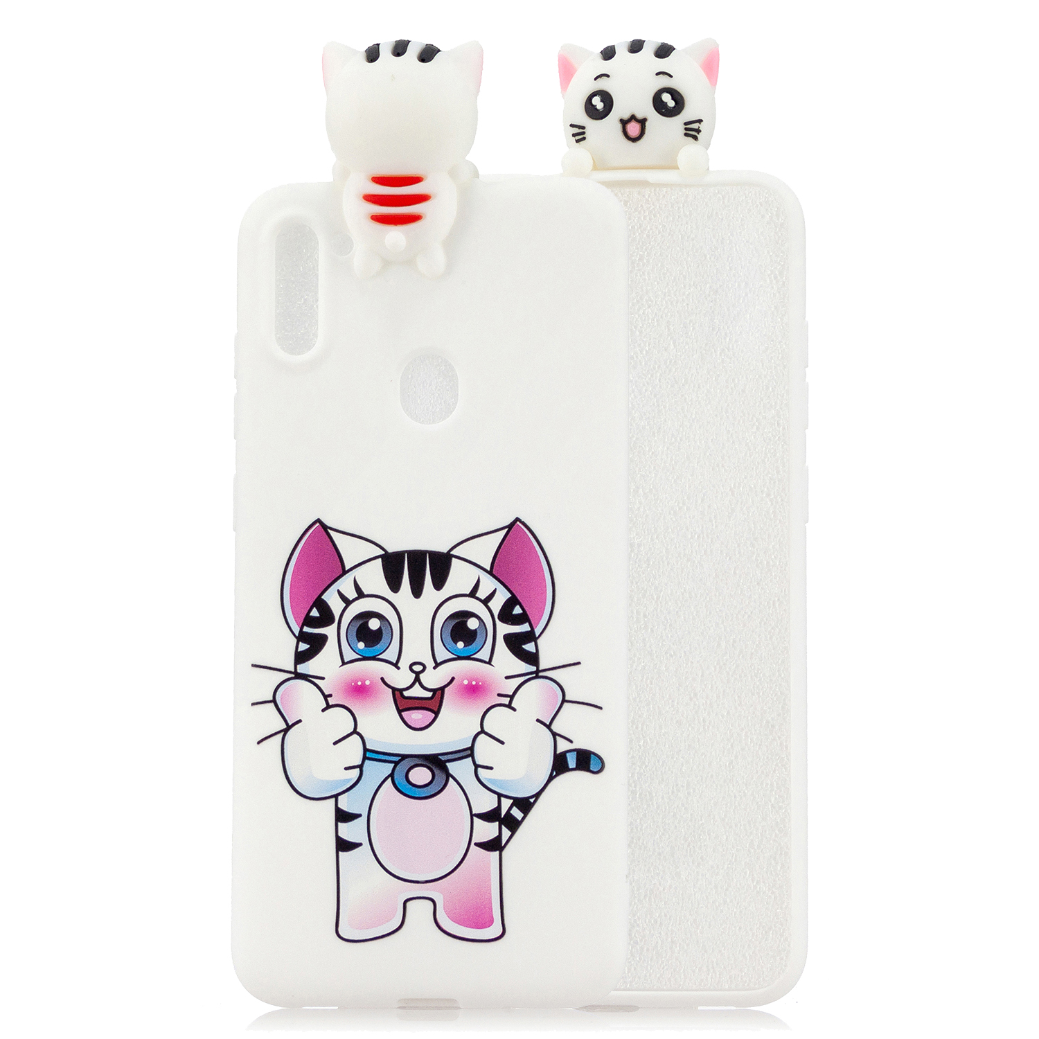 For Samsung A11 Soft TPU Back Cover 3D Cartoon Painting Mobile Phone Case Shell kitten