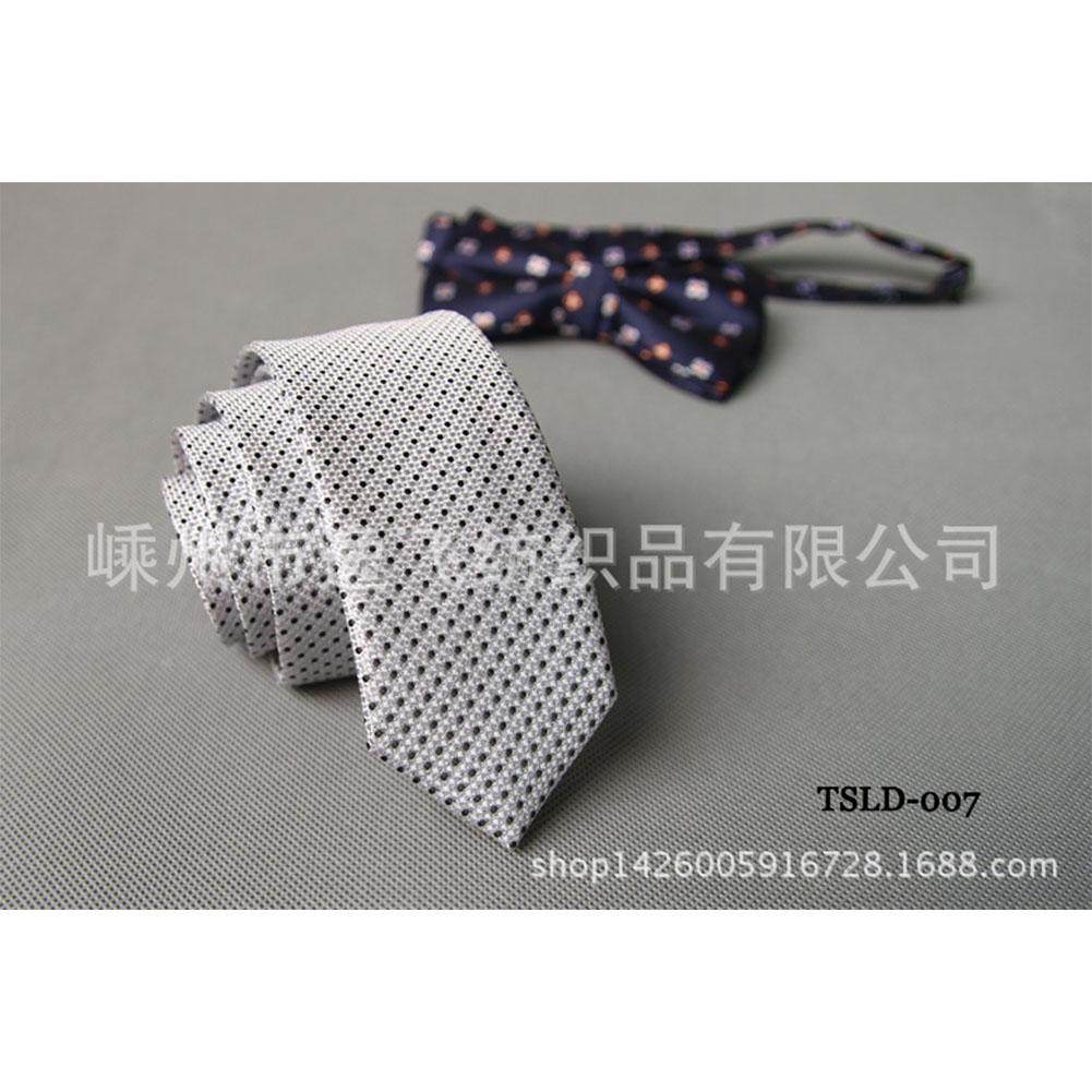 5cm Skinny Tie Classic Silk Solid Dot Narrow Slim Necktie Accessories Wedding Banquet Host Photo TSLD-007