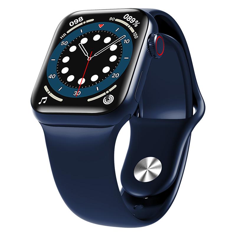 HW12 HW16 Full Screen Smart Watch 44mm 40mm Men Women Multifunction Smartwatch blue