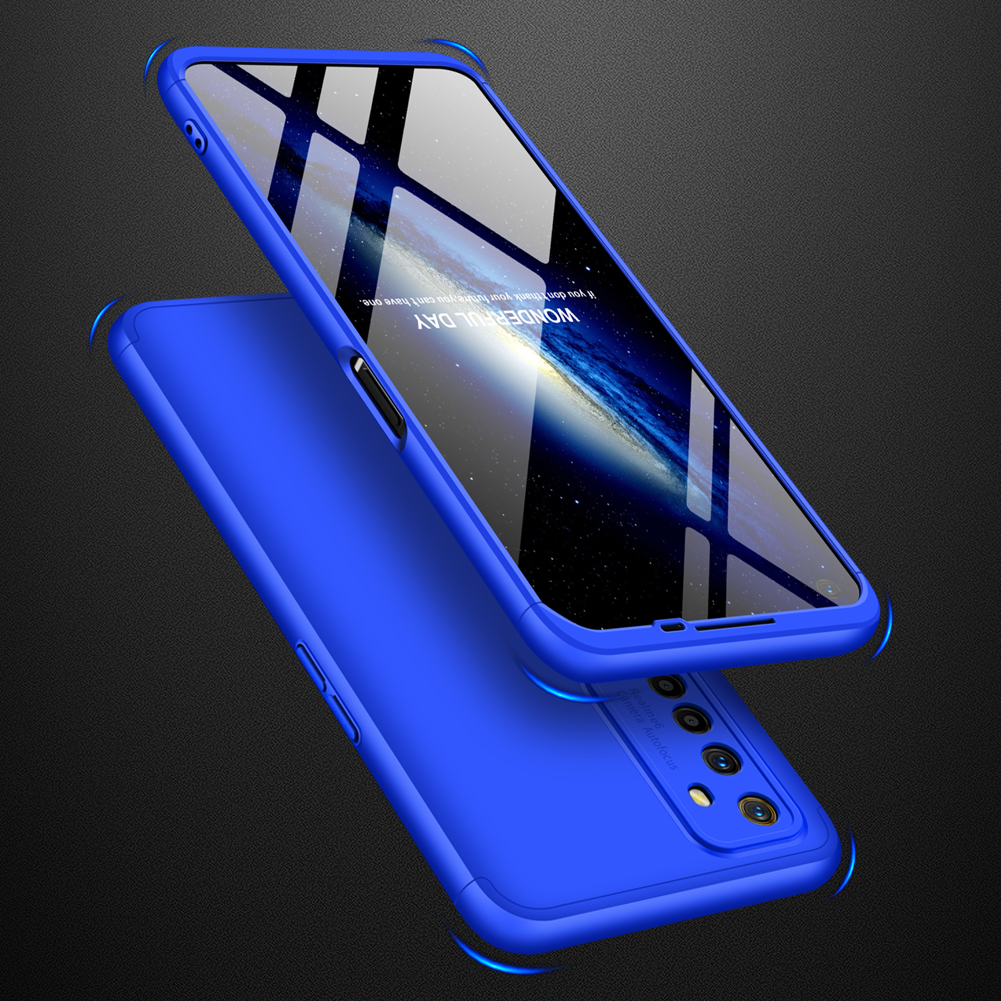 For OPPO Realme 6 Mobile Phone Cover 360 Degree Full Protection Phone Case blue