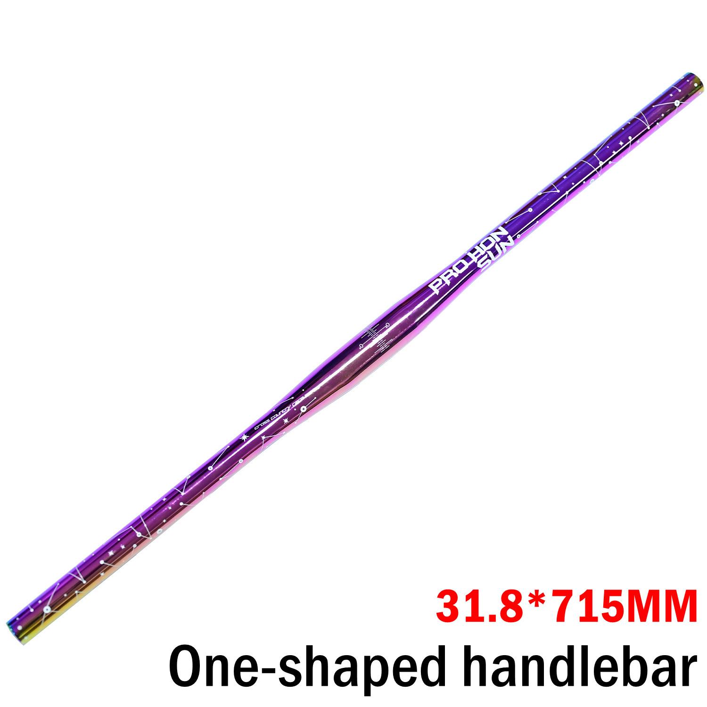 Bicycle Handlebar colorful Bend handlebar aluminium alloy31.8* 715/31.8*780 mm straight handbar Straight handle 31.8*715MM