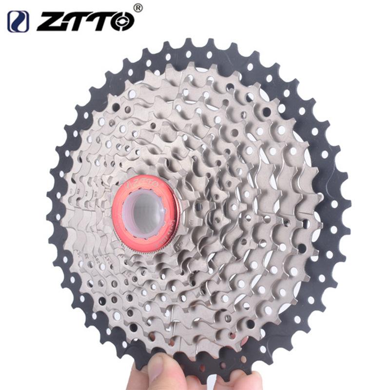 10-speed Bike Flywheel  Big Tooth Cassette 11-40t Climbing Flywheel for Mountain Bike Black silver