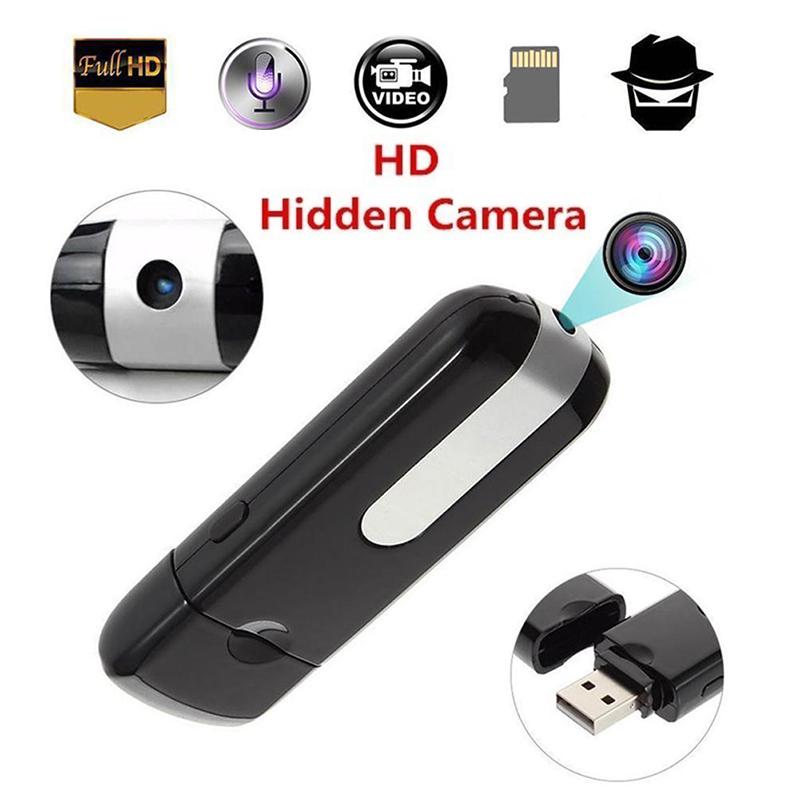 USB Disk Flash Drive HD DVR DV Recorder Pinhole Mini Camera black