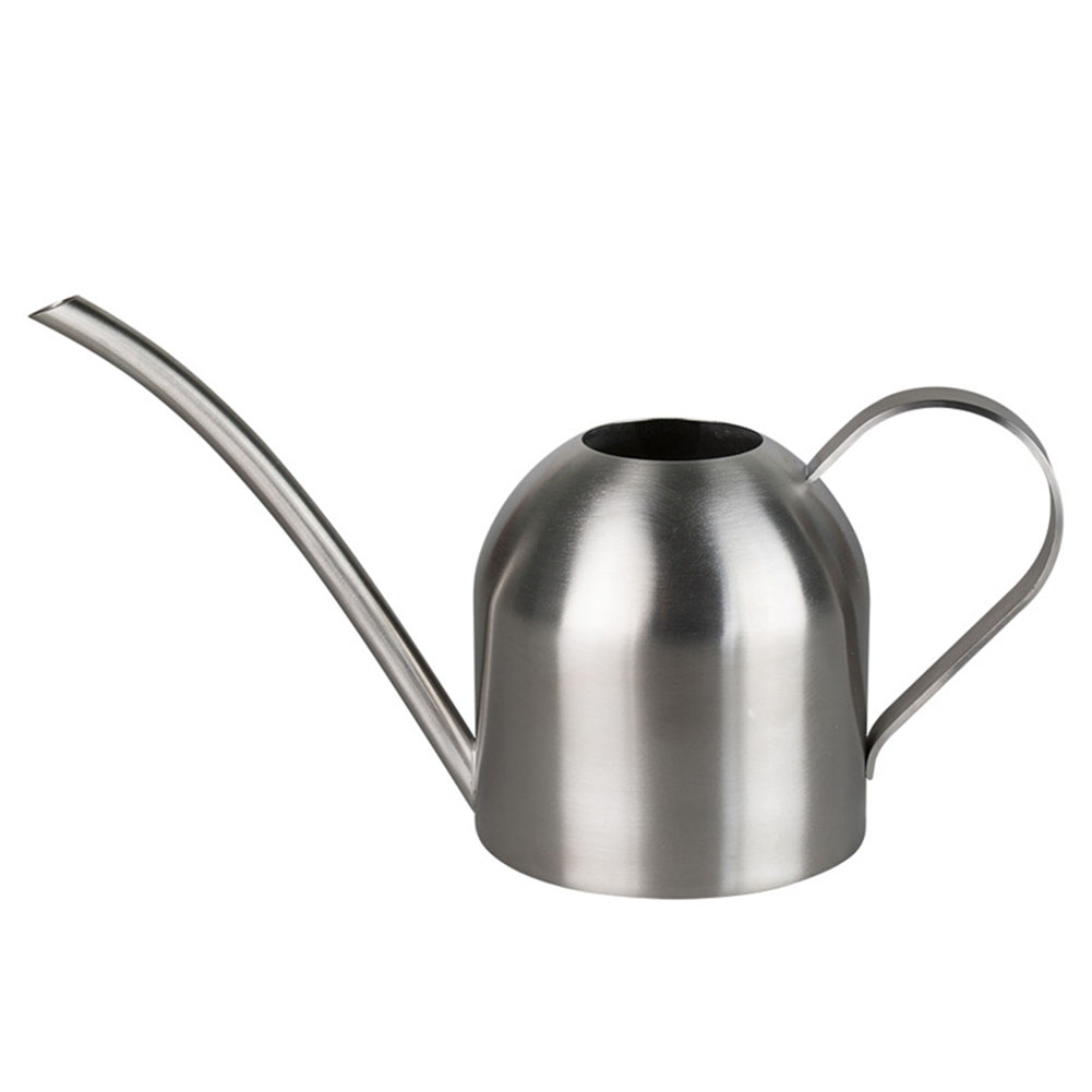500ml Long Mouth Pot Sprinkling Portable Stainless Steel Household Outdoor Watering Can Flowers Gardening Tools Silver