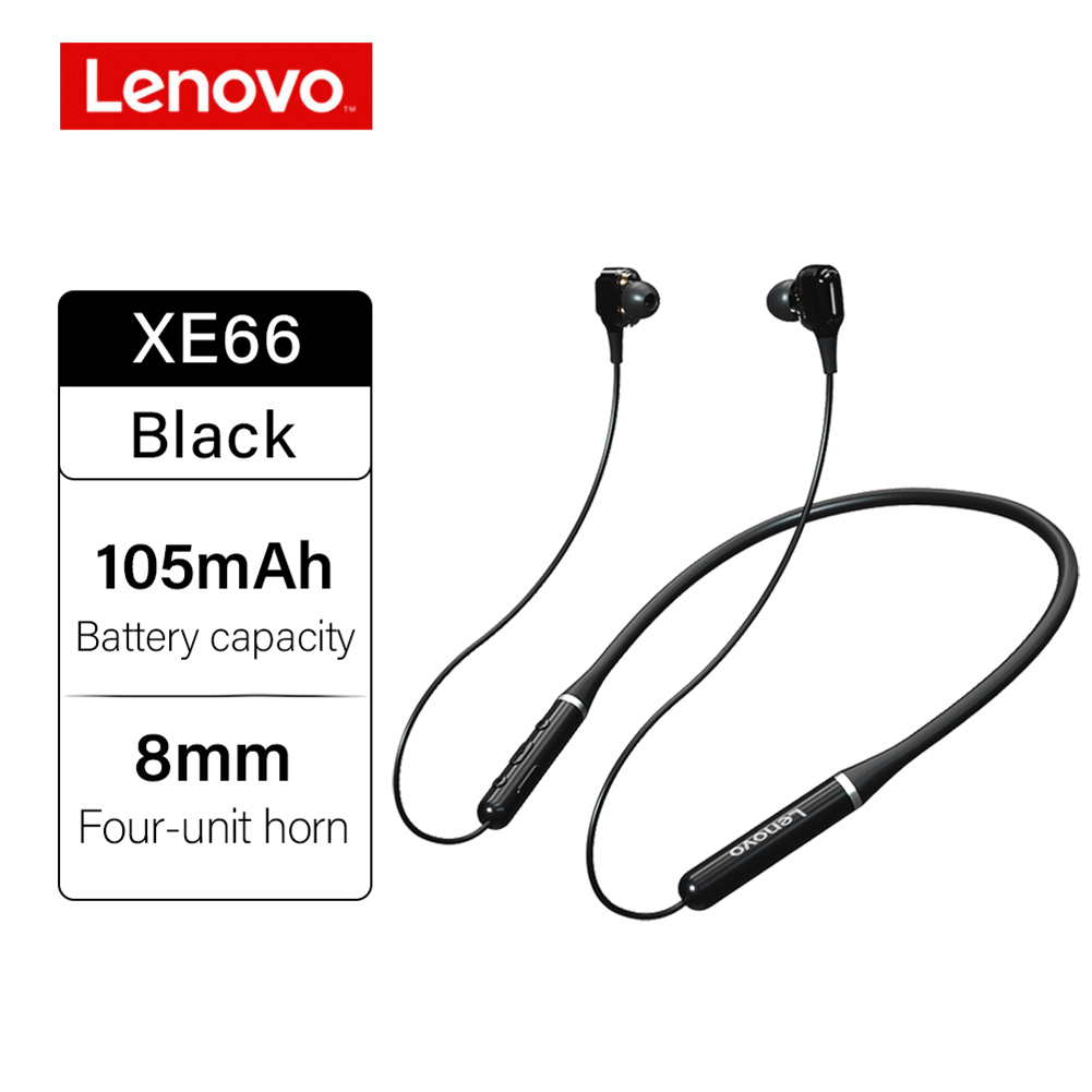 Original LENOVO Xe66 Wireless Headphones Bt5.0 Stereo Music Earphones 8d Surround Sport Headset Hands-free With Mic Black