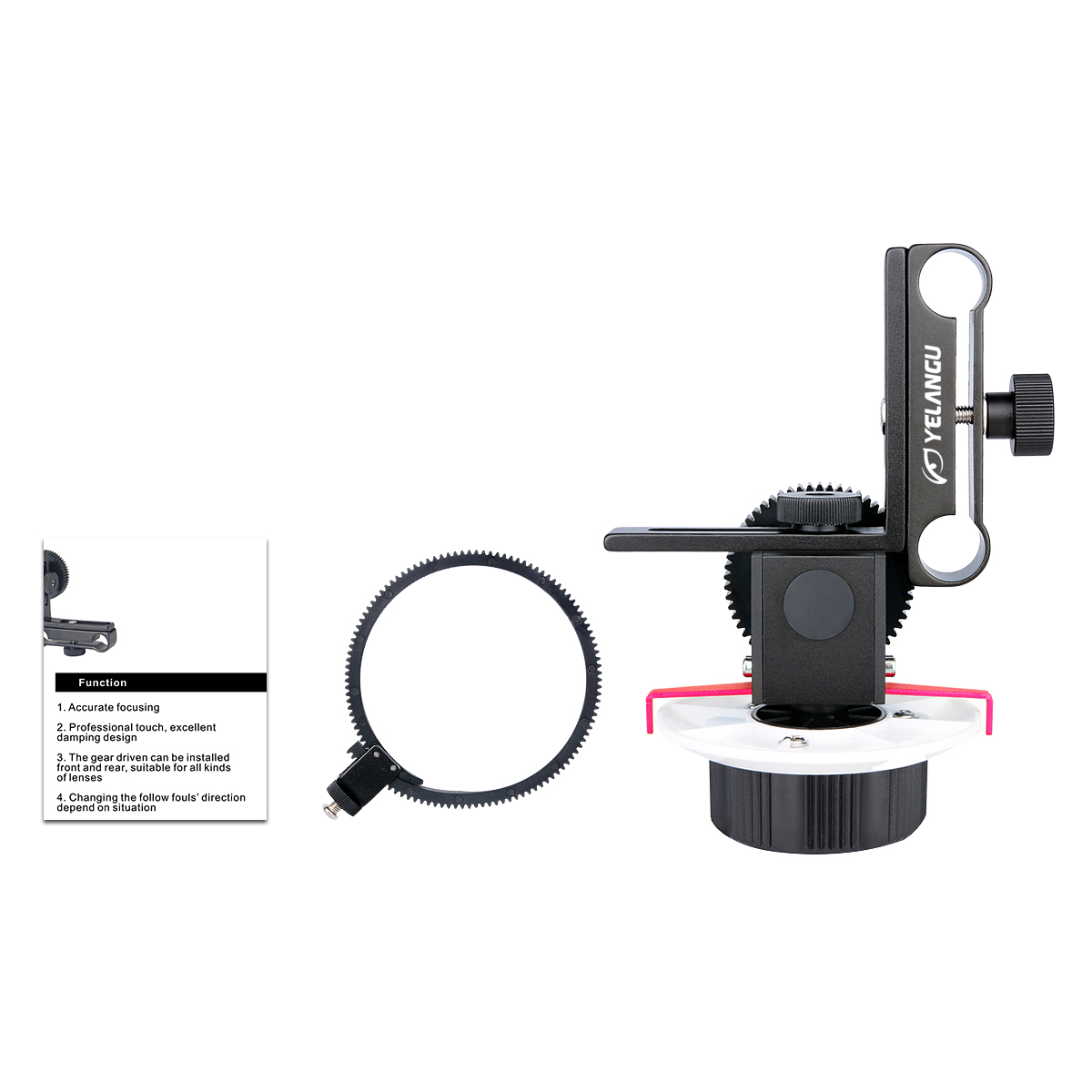 DSLR Camera Follow Focus Quick Fixed Photography Focalizer Precise Adjust Gear for Canon EOS60D 600D SLR Digital Cameras red