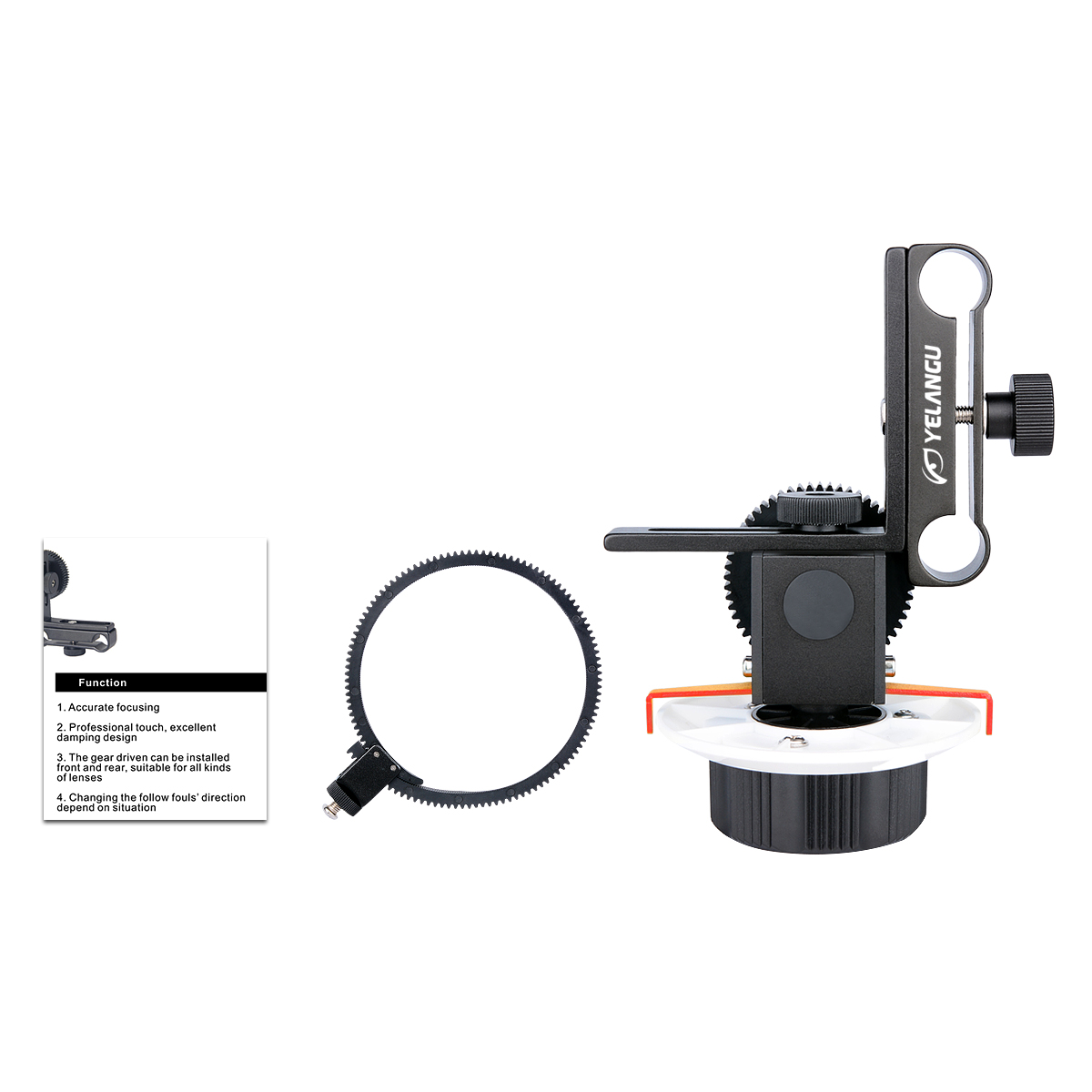 DSLR Camera Follow Focus Quick Fixed Photography Focalizer Precise Adjust Gear for Canon EOS60D 600D SLR Digital Cameras orange