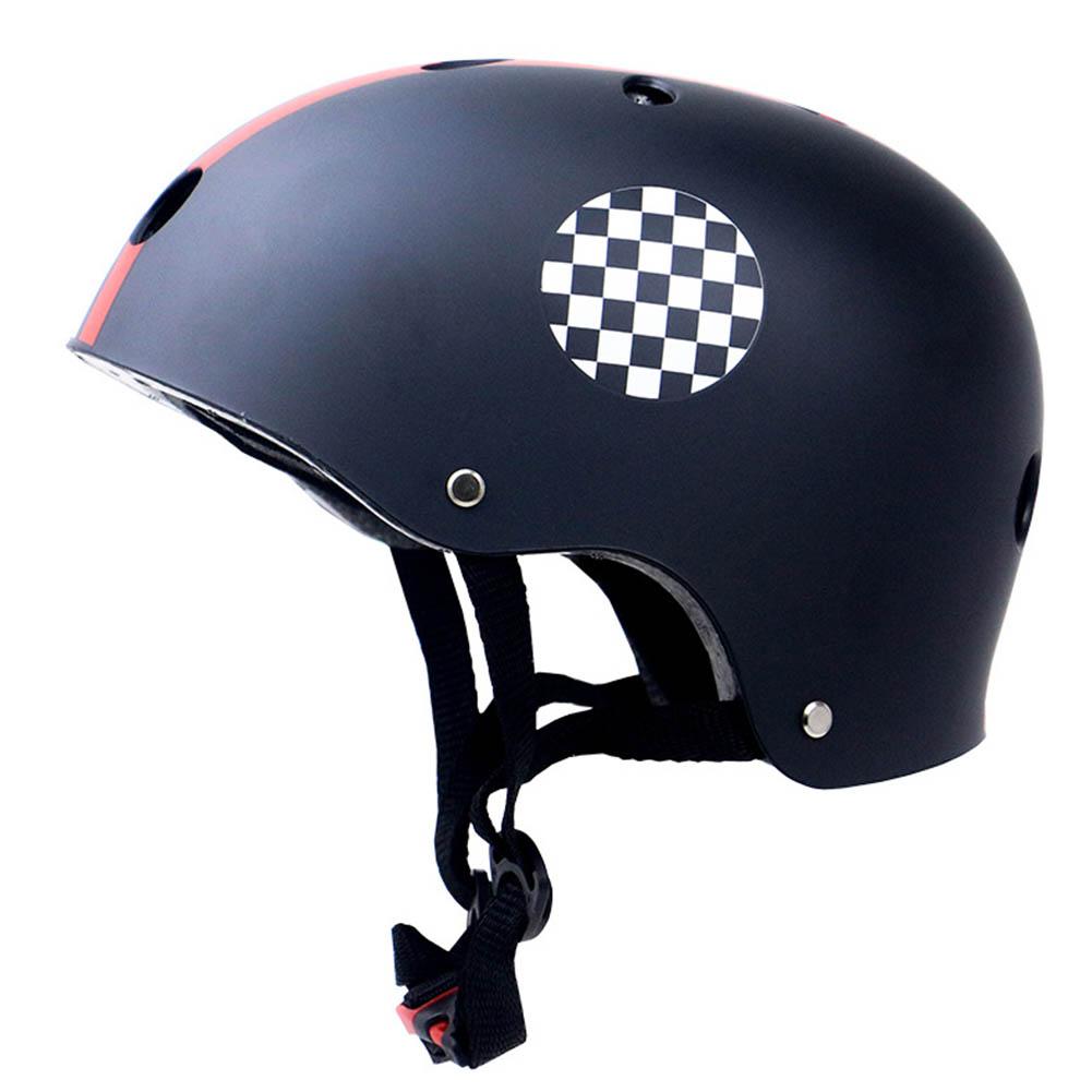 Skate Scooter Helmet Skateboard Skating Bike Crash Protective Safety Universal Cycling Helmet CE Certification Exquisite Applique Style black_XL