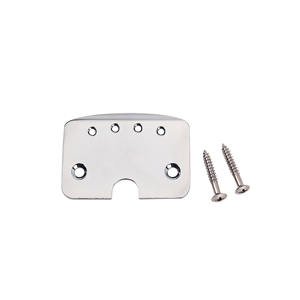 Silver Aluminium Alloy Tailpiece for Cigar Box Guitar 4 String Music Instrument Accessories Silver