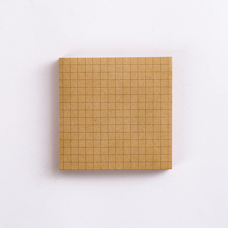 Kraft  Paper  Sticky Note  Square  Tearable  N-time   Sticky Note  Student Supplies Quartet small notes-brown square