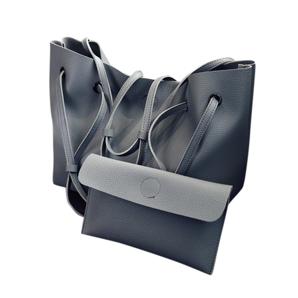 2PCS/Set Women Fashionable Handbag -Dark Gray