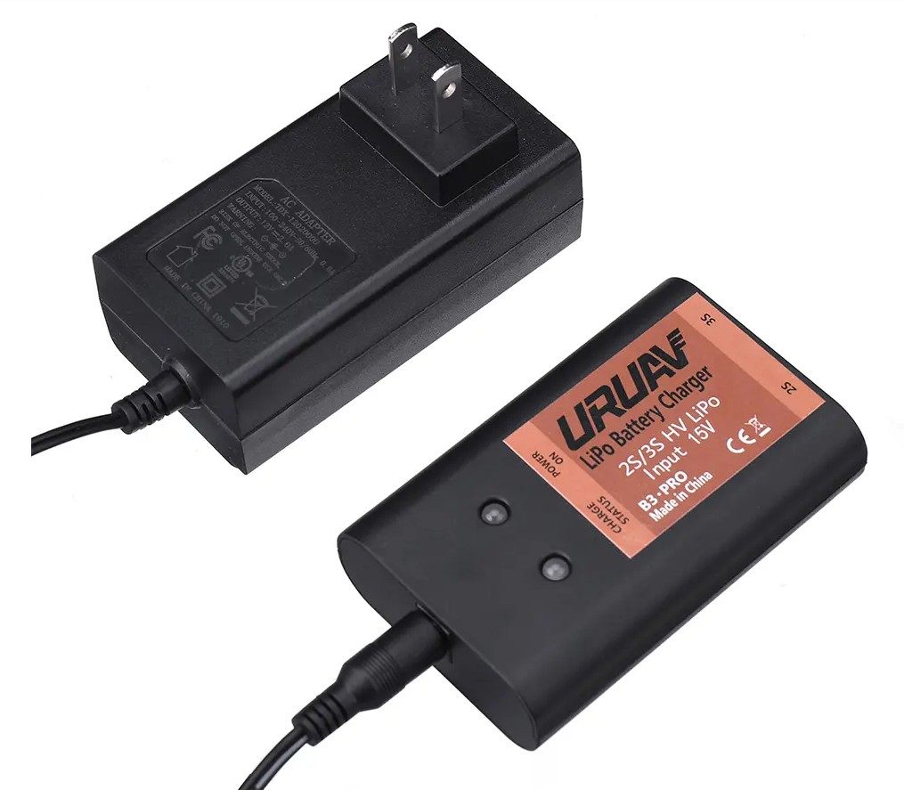 URUAV 2-3S HV 1.5A Lipo Battery Charger Compatible for Xiaomi FIMI A3 RC Quadcopter charger