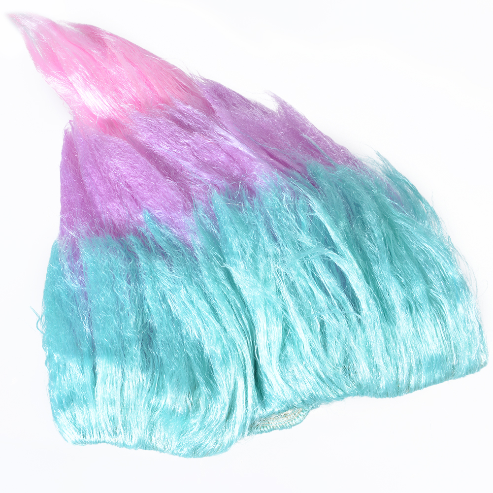 36cm Trolls Poppy Wig For Kids Children Cosplay Hair Wigs Halloween Party Supplies Blue and Purple Pink