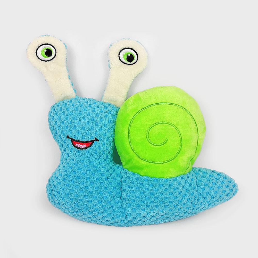 Plush Doll Corn Fleece Snail-shape Cleaning Teeth Molars Doll blue_L