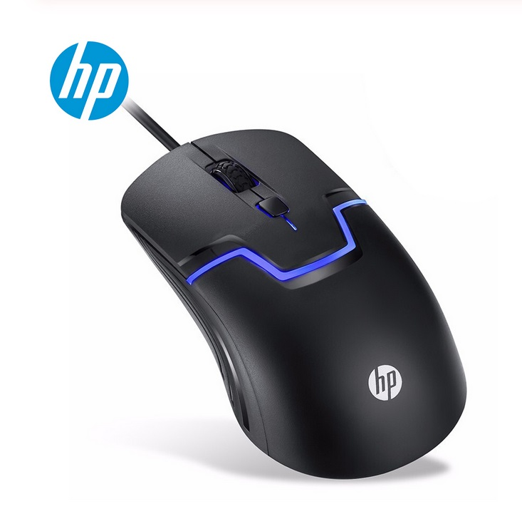 HP M100 Computer Controller Seven-color Led Illuminated Gaming Mouse black