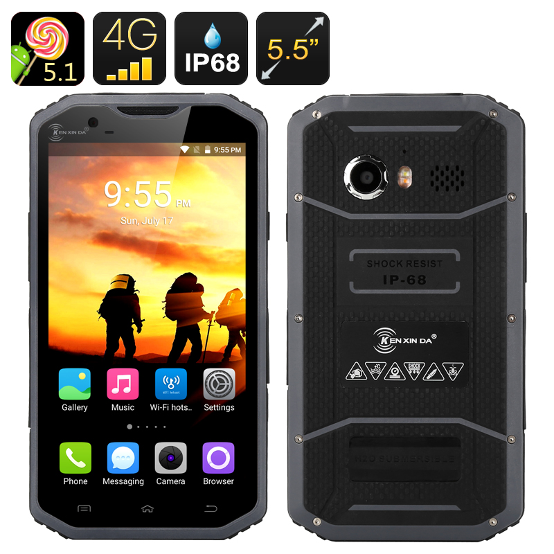 KEN XIN DA W8 Rugged Smartphone (Grey)