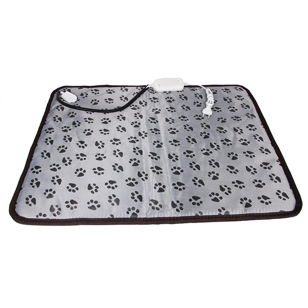Pet Electric Heated Pad Dog Cat Winter Warm Mat Carpet for Animals Waterproof Adjustable Heating Pad European Plug footprint_45*45cm