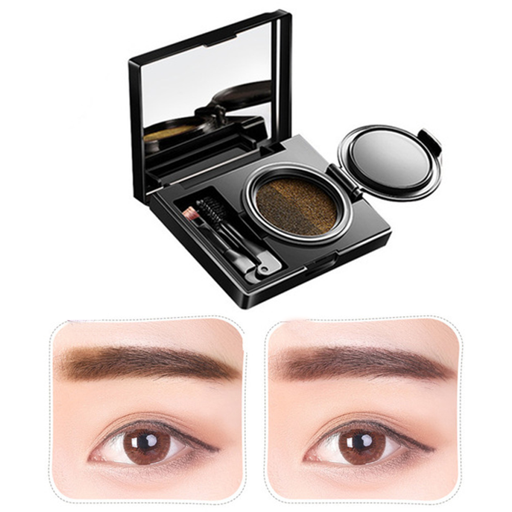 Two-Color Air Cushion Eyebrow Cream Powder Natural Long-Lasting Waterproof Eyebrow Cream