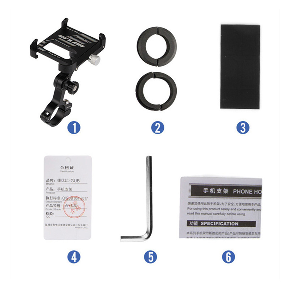 Bicycle Phone Holder Smartphone Adjustable Support GPS Bike Phone Stand Mount Bracket black_One size