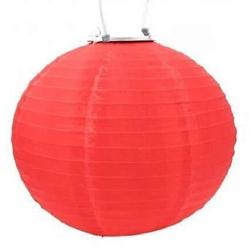 12 Inch/30CM Solar-Powered Lantern Light Pretty Outdoor Hanging Lamp Yard Garden Festival Wedding Decoration  12 inch - red