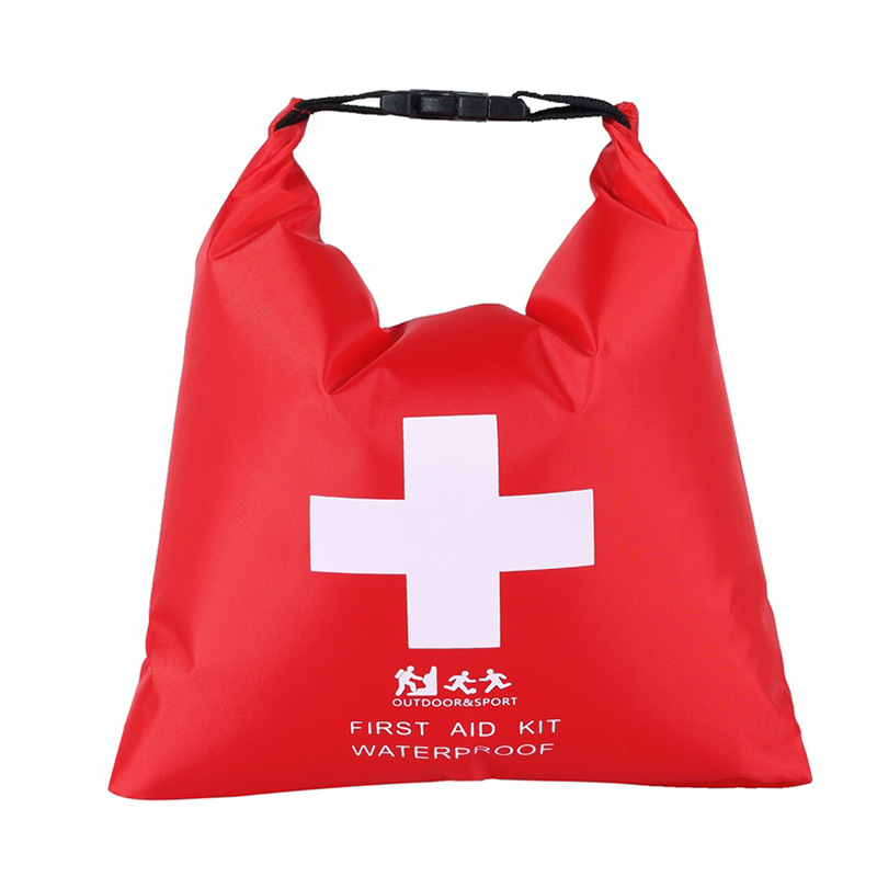 Waterproof First Aid Kit Bag Emergency Kits Case For Outdoor Camp Travel Emergency Medical Treatment red_1.2L