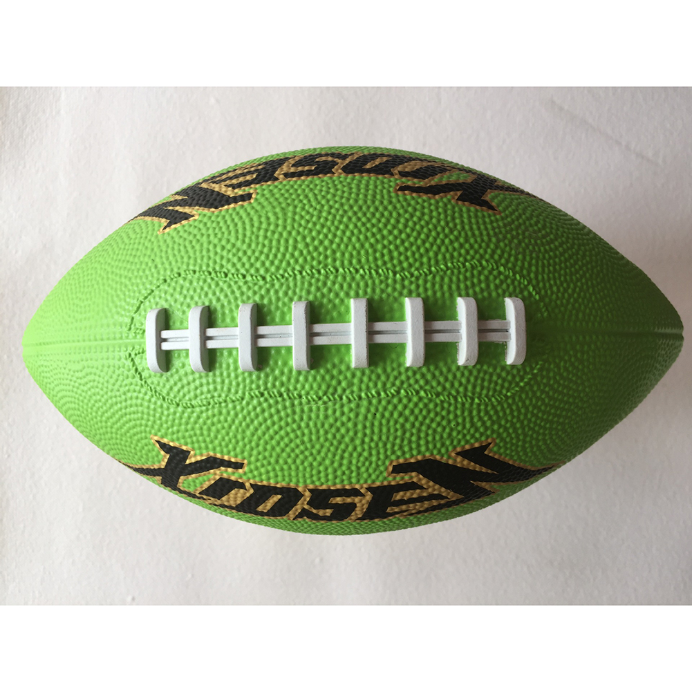 American Size 3 Durable Training Playing Rubber Rugby Ball Football Color Random Christmas Gifts Multicolor random