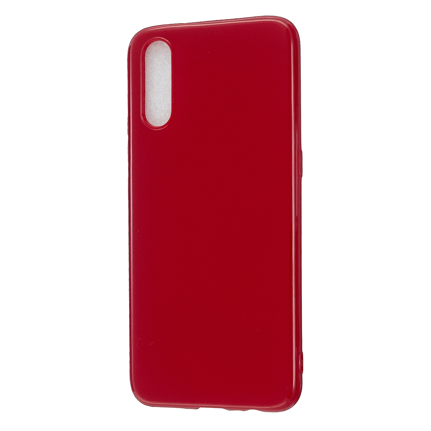 For VIVO IQOO Neo/Y97 Glossy TPU Phone Case Mobile Phone Soft Cover Anti-Slip Full Body Protection Rose red